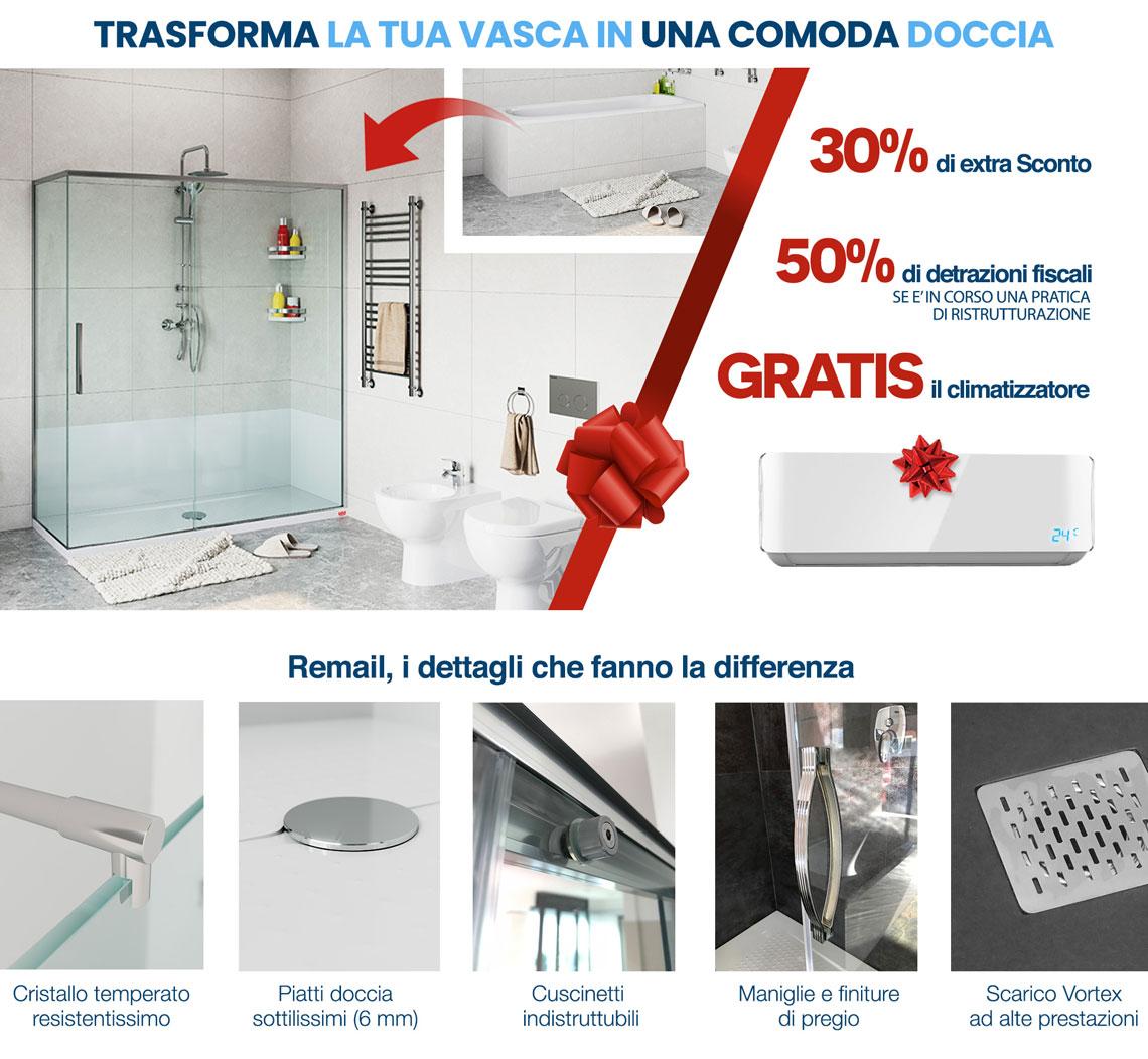 Trasformazione Vasca In Doccia Napoli.Trasforma La Vasca In Doccia Con Remail Da Vasca In Doccia