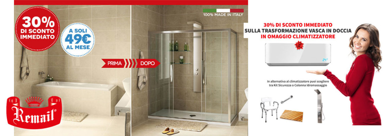Trasformazione da vasca in doccia - Da vasca in doccia